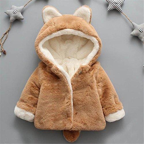 Baby Infant Kid Winter Hooded Coat Wool Sweater