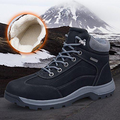 Baumwollstiefel Dämpfung Black Warm Winter Hohe Plüsch 44 Behalten Plus Stiefel Freizeitschuhe Rutschfeste Herren Stiefel 40 fZtxp