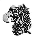 Buzzard Biker Pin - Hand Carved Pewter Motorcycle Vest Jacket Hinckley Buzzard Lapel Pin