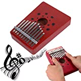 Sunshinetimes 10 Key Finger Kalimba Solid Wood Mbira Thumb Piano Musical Instrument kit for Children Adults Music Beginners