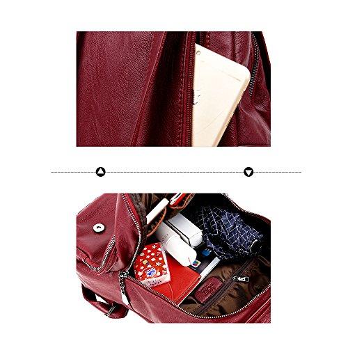 (JVP1063-Z) Bolso de gran capacidad de cuero natural de las mujeres para el bolso de moda de las muchachas anillo impermeable de la manera lindo viajero ligero escuela Oro