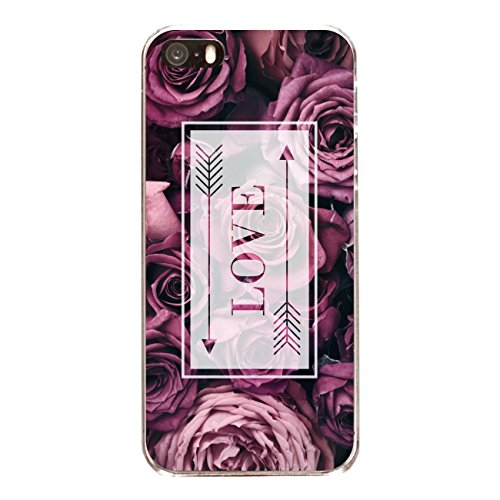 "Disagu Design Case Coque pour Apple iPhone SE Housse etui coque pochette ""Rosen_Love"""