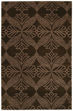 - Capel Picturesque-Grace Rectangle Cocoa Hand-Knotted Rug (7'x 9') - 7' x 9'