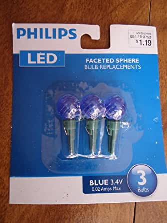 Philips 3 LED faceted Sphere Replacement Christmas light