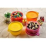 Tupperware Tropical Plastic Bowl Set, 230ml, Set of 2, Multicolour