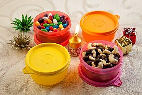 Tupperware Tropical Plastic Bowl Set, 230 ml  Multicolour, PC 01    Set of 2