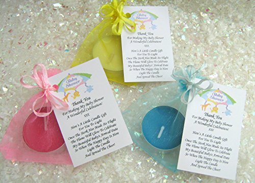 10 blue baby shower candles lovely little u0027thank youu0027 gifts for guests cute table decorations or just a little something extra to add to