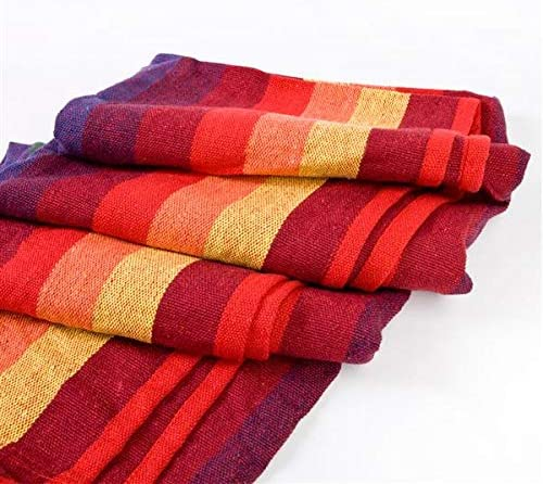 Xictuwey 20080cm Portable Polyester Cotton Hammock Red Strip