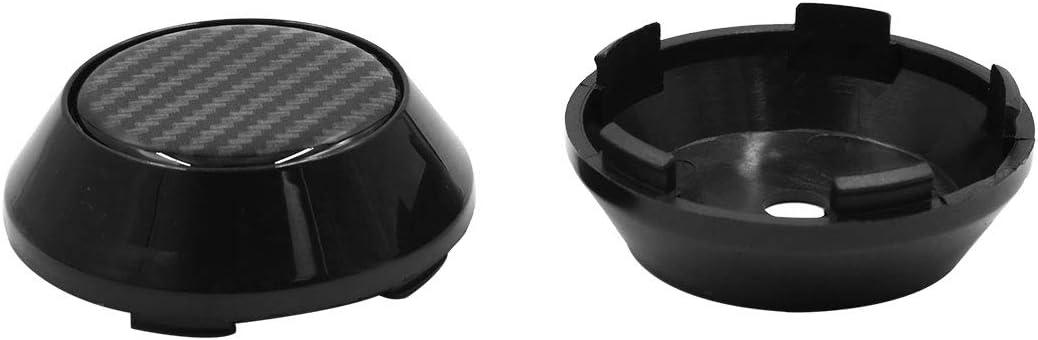 Sourcing Map 4stk 65mm Dmr 5 Klammern Radreifen Nabenkappen Abdeckung Schwarz Für Auto Auto
