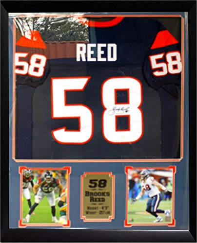 Brooks Reed Houston Texans Autographed Jersey Matted in a Premium