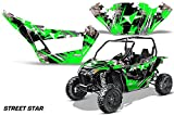 AMRRACING Arctic Cat Wildcat Sport XT Full Custom UTV Graphics Decal Kit Street Star Green