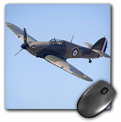 - 3Drose 8 X 8 X 0.25 Inches Mouse Pad Hawker Hurricane, British and Allied Wwii Fighter Plane, David Wall (mp_76037_1)