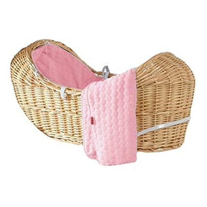 Luxury British Made Soft Thick Thermal Izzy Pod Noah Pod Snuggle Pod Bubble Moses Basket Dressing Covers (Pink) Generic