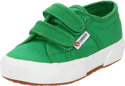 Superga 2750 JVEL Classic Sneaker,Island Green,33 EU (2 M US Little Kid) ()