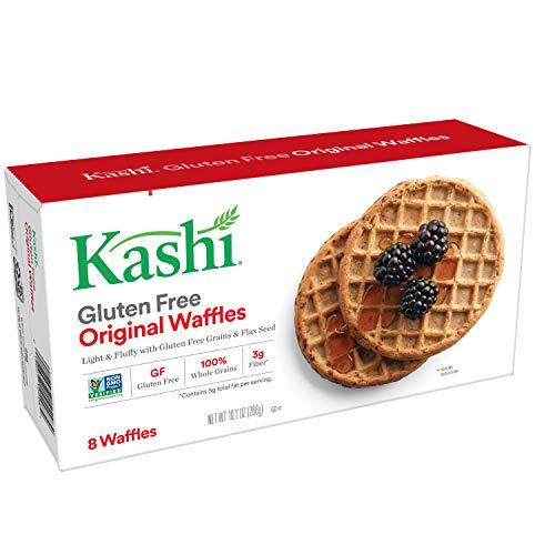 Kashi Frozen Original Waffles - 100% Whole Grains | Vegan | 10.1 Oz Box (8 Waffles)