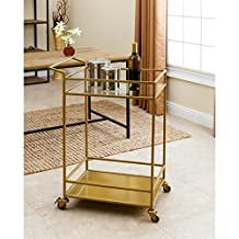 Abbyson Living Kitchen Cart in Gold