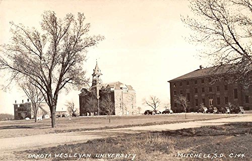 Mitchell South Dakota Wesleyan University Real Photo Antique Postcard K55424