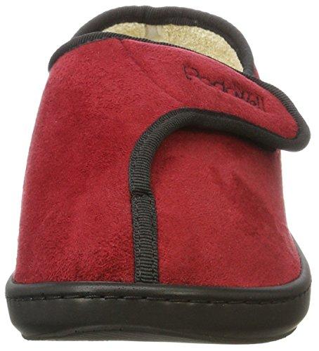 Podo Well Unisex-Erwachsene Amiral Hohe Hausschuhe Rot (Rot)