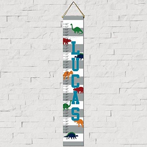 Dinosaur Canvas Growth Chart Print (Chart Growth Dinosaur Personalized)