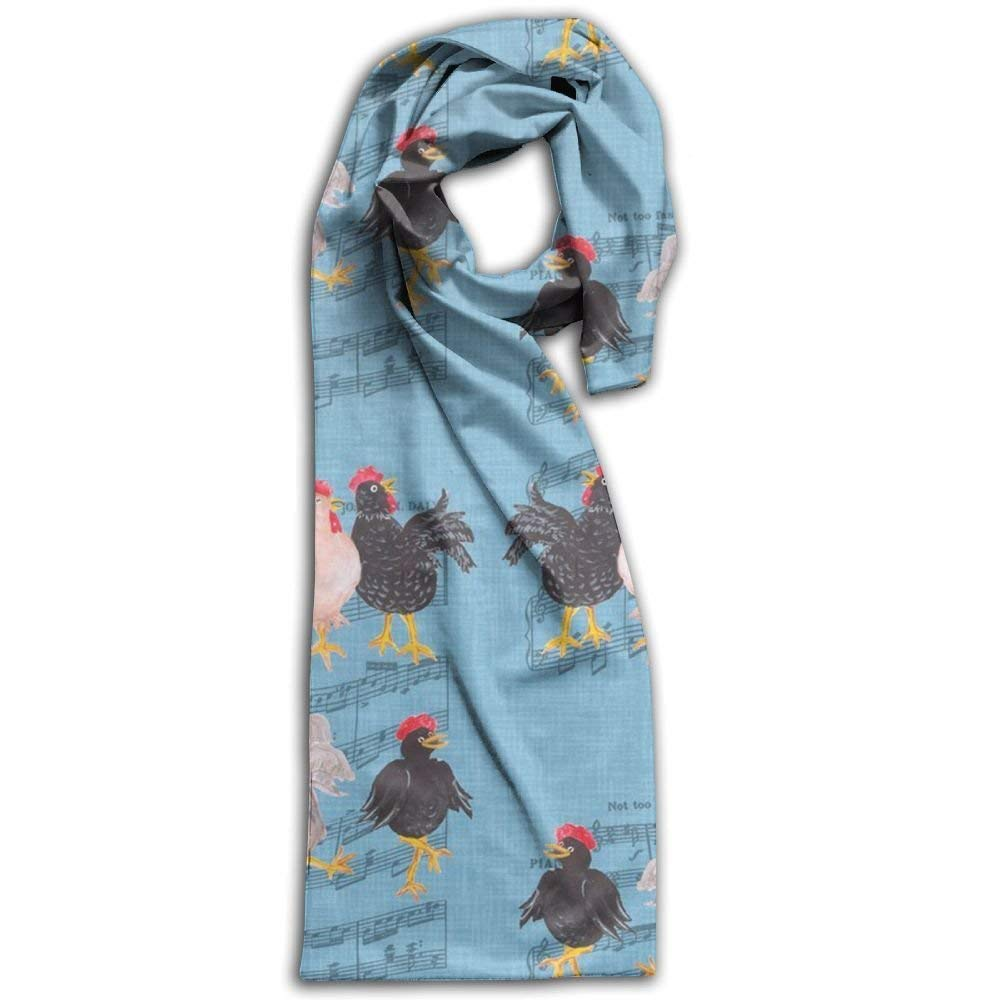 Womens Mens Fall Winter Fashion Scarf Long Shawl Cotton Scarves Print Scarves ncing Chicken Winter Warm Soft Chunky Large Blanket Wrap Shawl Scarf