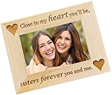 Personalized Photo Frame - Sister Gift from Sister, Custom Engraved Sister-In-Law Picture Frames - WF01