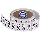 "Consecutively Numbered Labels. Measure: 1.5"" X 0.75"" Paper Material (Various Number Sequences Available) (1001-2000)"