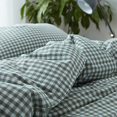 DB&PEISHI Geometric 4 Piece Cotton Cotton 1pc Duvet Cover 2pcs Shams 1pc Fitted Sheet , light green , 220cm240cm