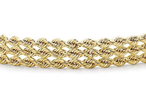 Carissima Gold Pulsera de mujer con oro amarillo de 9 quilates (375/1000), sin gema Carissima Gold Pulsera de mujer con oro amarillo de 9 quilates (375/1000), sin gema Carissima Gold Pulsera de mujer con oro amarillo de 9 quilates (375/1000), sin gema
