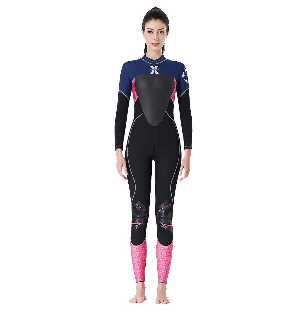 Onegirl Women's Keep Warm Wetsuit Sunscreen Swimming Surfing and Snorkeling Diving Coverall Suit Black
