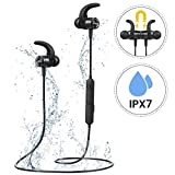 Bluetooth Headphones, Mpow S10 IPX7 Waterproof Sports Headphones W/ HiFi Stereo Sound, Running Headphones W/ 8-9 Hours Playtime, Wireless Headphones Magnetic Earphones with MIC for Jogging, Running, Fitness