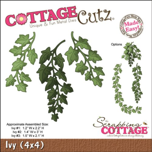 CottageCutz Die with Foam, 4 by 4-Inch, Ivy Made Easy
