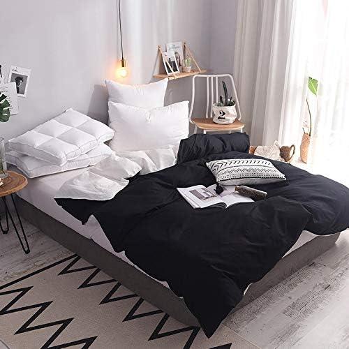 Zhiyuan Funda nórdica 100% algodón, cama 150cm, Blanco y negro ...