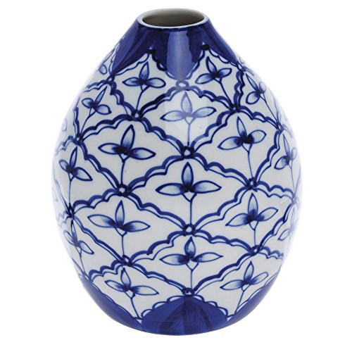 - Porcelain Bud Vase Blue And White - 4 14/
