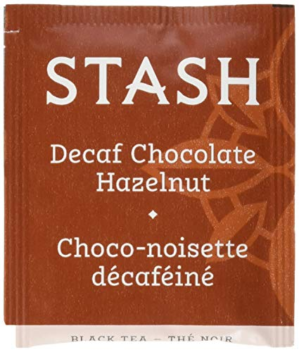 (Stash Tea Decaf Chocolate Hazelnut Black Tea 100 Count Box of Tea Bags in Foil)