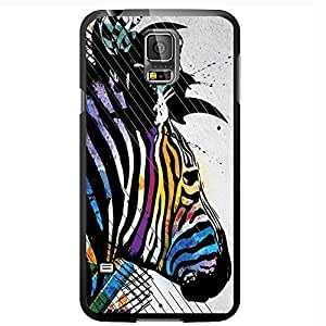 Colorful Abstract Zebra Hard Snap on Phone Case (Galaxy s5 V)