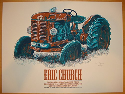 2012 Eric Church - Charleston Concert Poster by Tim Doyle