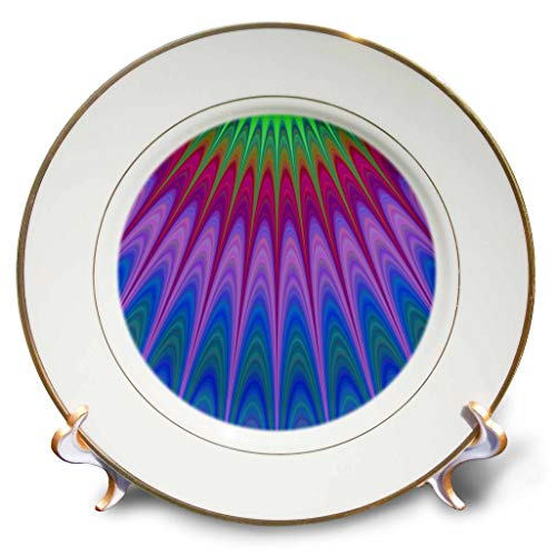 3dRose David Zydd - Colorful Abstract Designs - Heavenly Rays - colorful design - 8 inch Porcelain Plate (cp_289106_1)