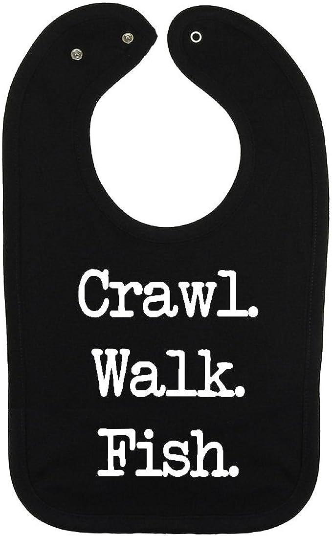 Crawl Walk Fish Baby Bandana Bib
