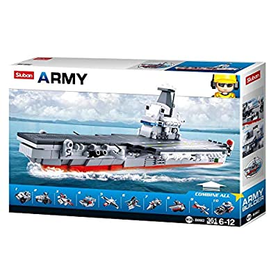 SlubanKids Creative Building Blocks Set | Imaginative Indoor Games Toys for Kids | Mega Army Aircraft Carrier, Mega Fighter Set and More