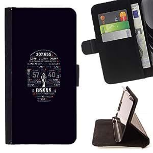 Momo Phone Case / Flip Funda de Cuero Case Cover - Tipografía cráneo;;;;;;;; - Samsung Galaxy S6 Active G890A