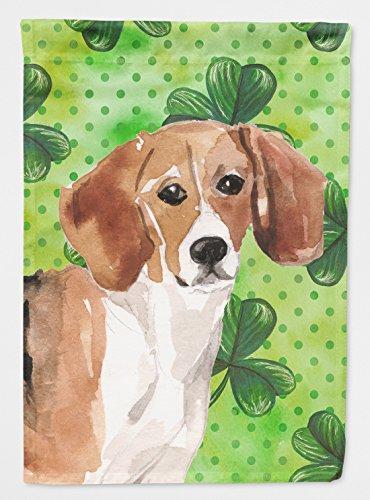 Caroline's Treasures BB9544GF Beagle St. Patrick's Decorative Garden Flag, Multicolor (Beagle Garden)