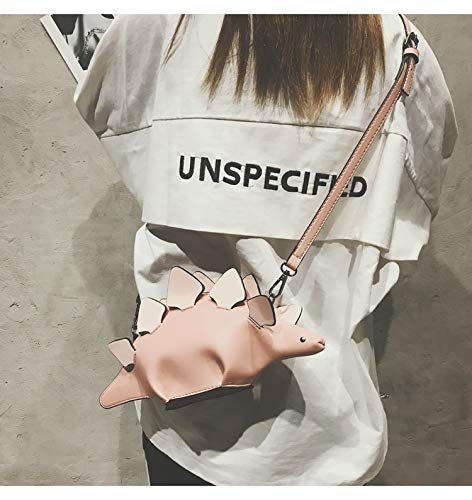 Piccolo Cuciture bianca Dinosauro Modo Rosa Colore Shoulder Flap Bag Signore Crossbody Di Carino Pnizun Bolsa Mini Casuale Borsa Messenger wAa5qpg