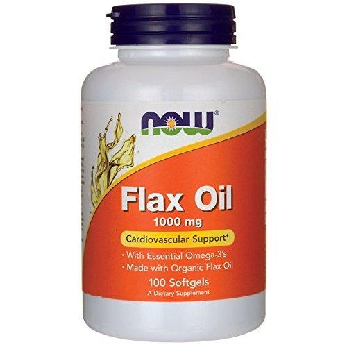Now Foods Organic Flax Oil 1,000 mg Softgels, 100 ct