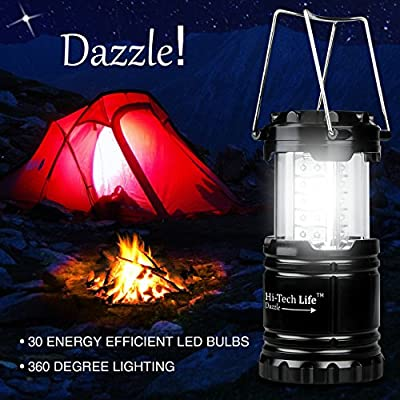 Best LED Camping Lantern with Glow-in-the-Dark Sticker for Emergency, Hurricanes, Hiking, Outdoor & Indoor Use - Ultra-Bright, Lightweight & Weather-Resistant, Hi-Tech Life Brand - Buy Risk-Free!