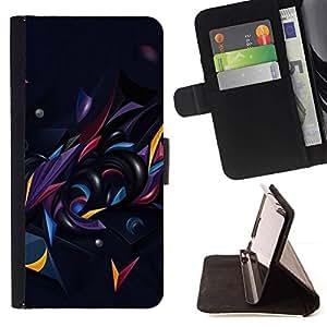 For Sony Xperia Z5 (5.2 Inch) / Xperia Z5 Dual (Not for Z5 Premium 5.5 Inch) Case , Negro Oscuro extracto forma Oro- la tarjeta de Crédito Slots PU Funda de cuero Monedero caso cubierta de piel