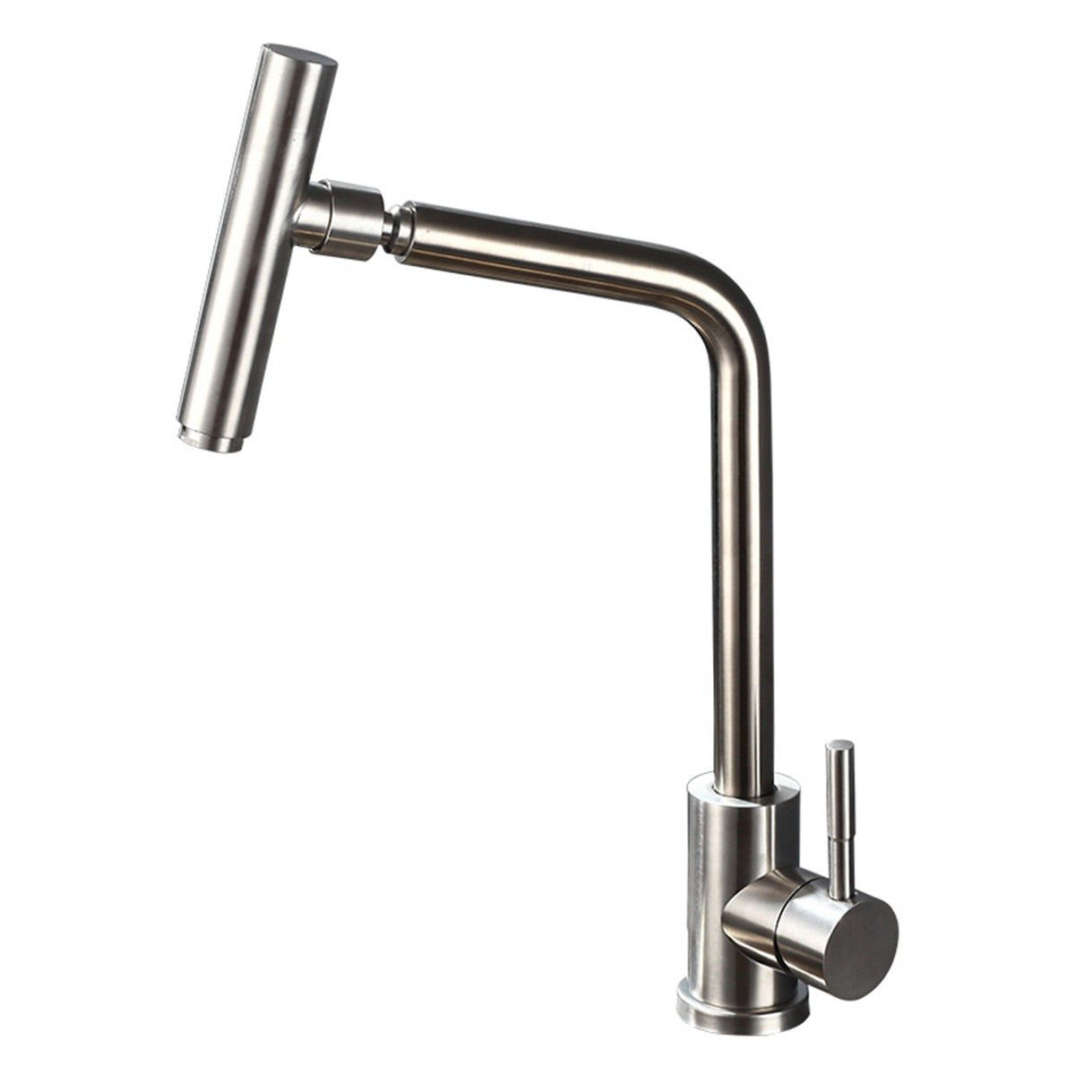 AQMMi Bathroom Sink Mixer Tap 304 Stainless Steel Brushed 43  23  15CM Taps for Bathroom Sink