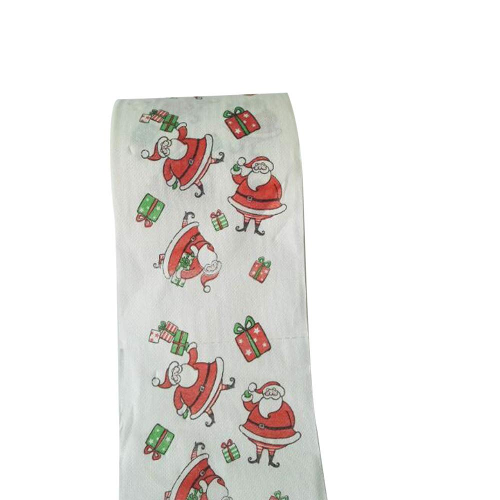 Sinwo Christmas Pattern Roll Paper Print Interesting Toilet Paper Table Kitchen Paper Christmas Decor (A) by Sinwo (Image #6)
