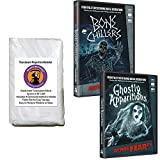 AtmosFear FX Ghostly Apparitions & Bone Chillers DVD Plus Reaper Brothers® High Resolution Rear Projection Screen for Virtual Halloween Window Projection Movies