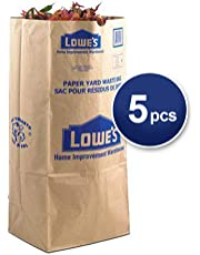 30 Gallon Heavy Duty Natural Brown Lawn Biodegradable Compostable Home and Garden Leaf Turf Grass and Refuse Outdoor Paper Trash Bags - Pack of 5