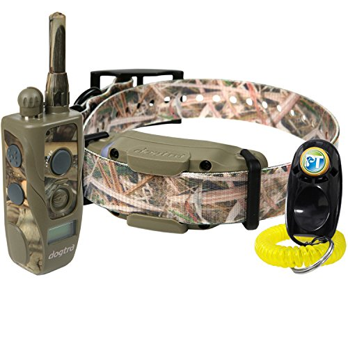 Dogtra 1900S Wetlands Camo Remote Training Collar – 3 4 Mile Range, Waterproof, Rechargeable, Shock, Vibration – Includes PetsTEK Dog Training Clicker